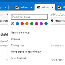 Enable Tab Groups Auto Create and Collapse in Microsoft Edge