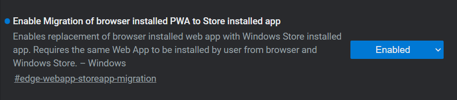 Edge PWA Mitigation To The Store App