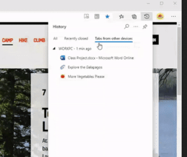 Edge Tabs From Other Devices