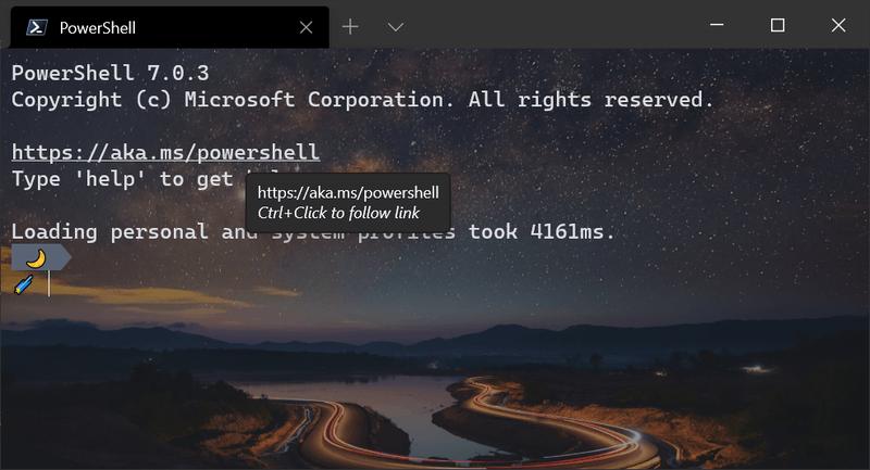 Windows Terminal V1.5 Hyperlinks