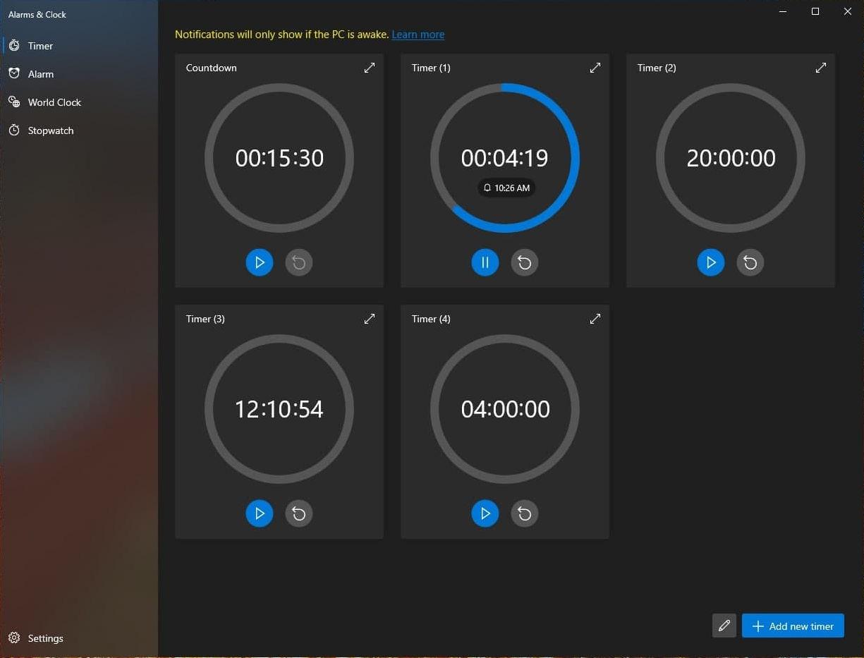 Alarms And Clocks Screenshot 2