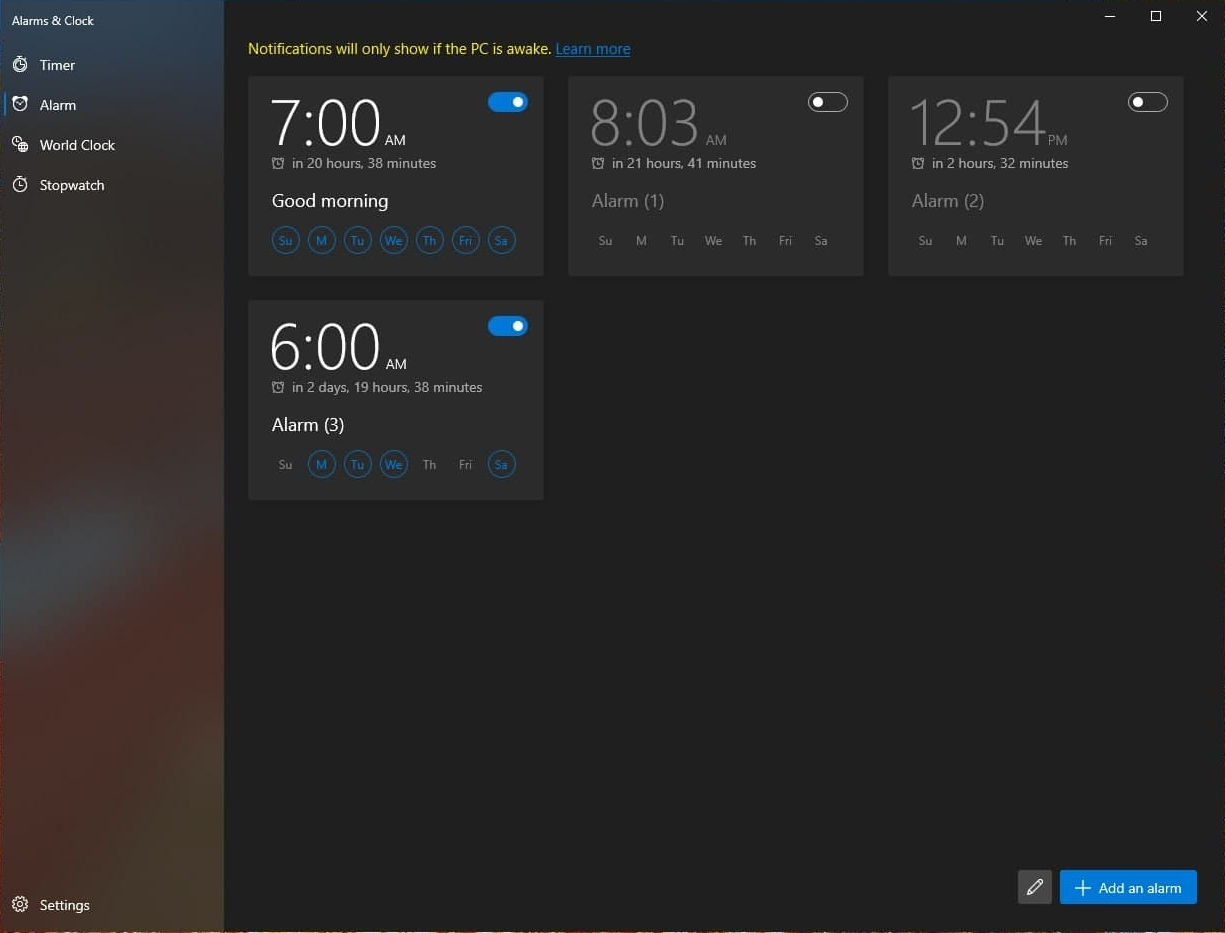 Alarms And Clocks Screenshot 3