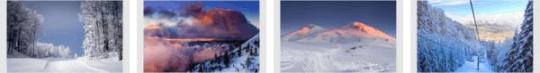 Ski Paradise Theme Stripe