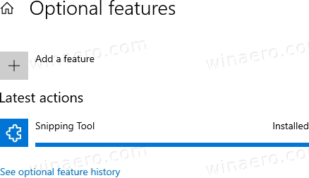 Windows 10 Snipping Tool Installed