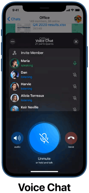 Telegram Voice Chat