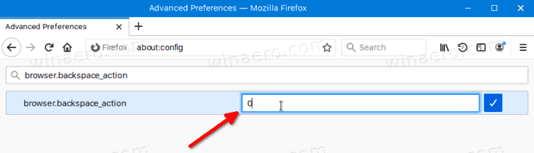 Firefox Enable Backspace Button For Navigation