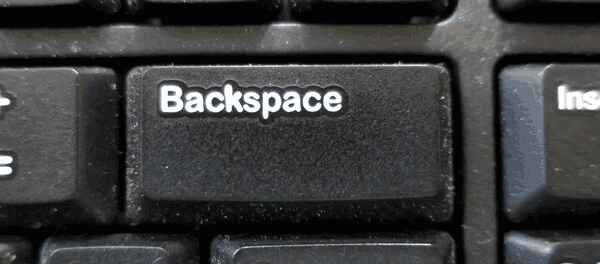 Keyboard Backspace Button Banner