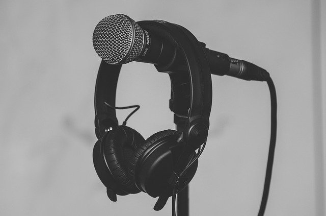 Microphone And Headphones Banner