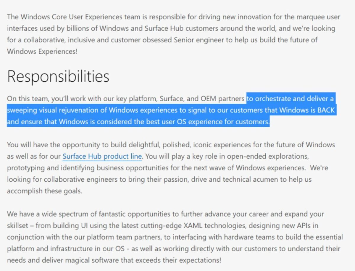 Original Job Offer Windows Is Back