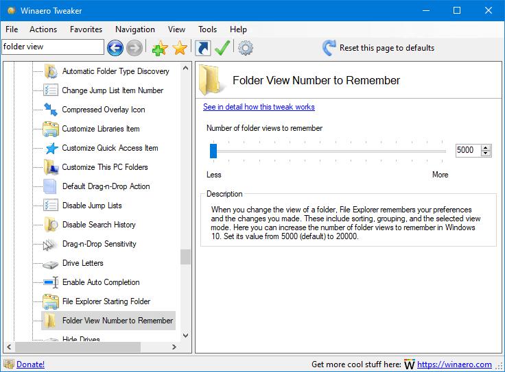 Winaero Tweaker 0.19 Folder View 1