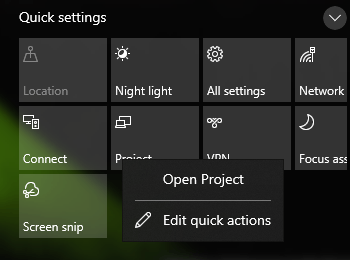 Windows 10 New Action Center Style