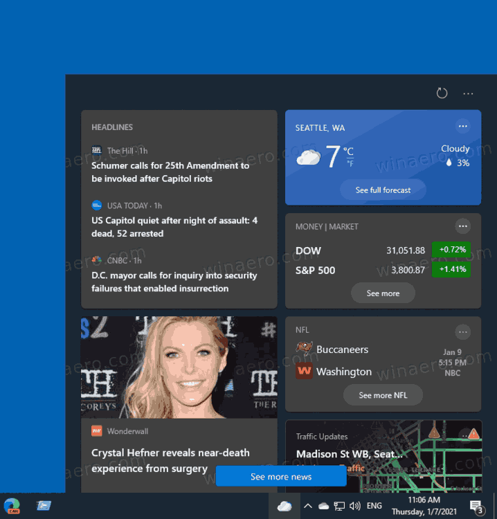 Windows 10 News And Interests Flyout