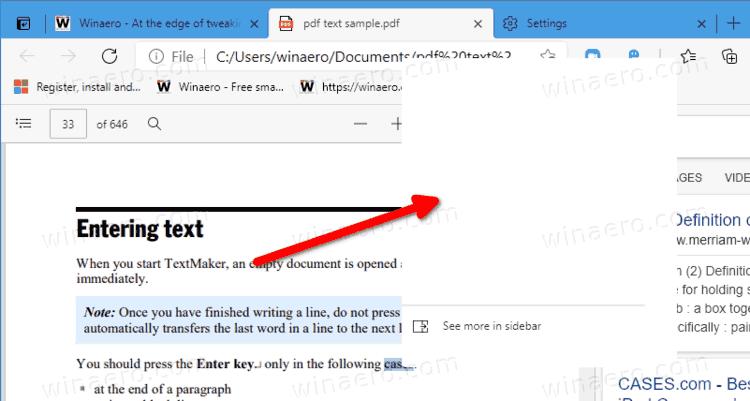 Edge Mini PDF Define Bugs
