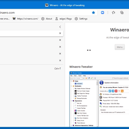 Microsoft Edge has received resizable vertical tabs