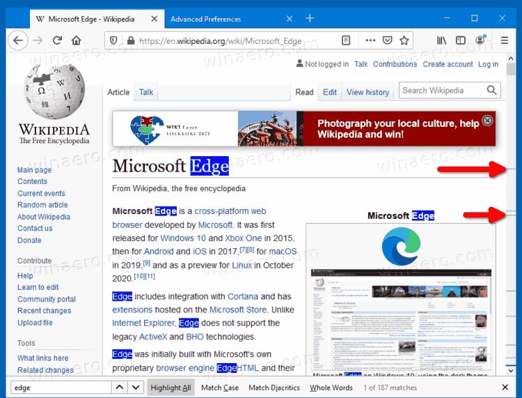 Firefox Search Highlight In Scrollbar