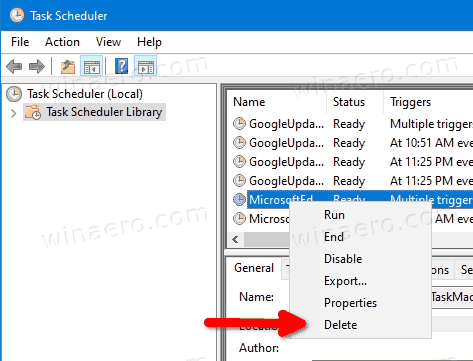 Windows 10 Delete Scheduled Task 2