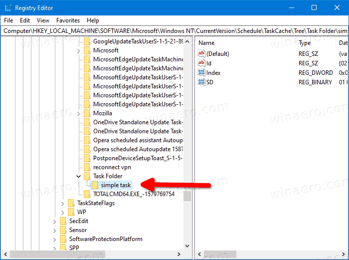 Windows 10 Remove Task In Registry 1