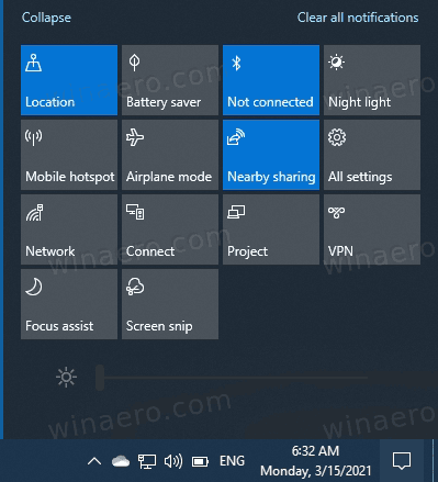 Dev Channel System Icons In Action Center