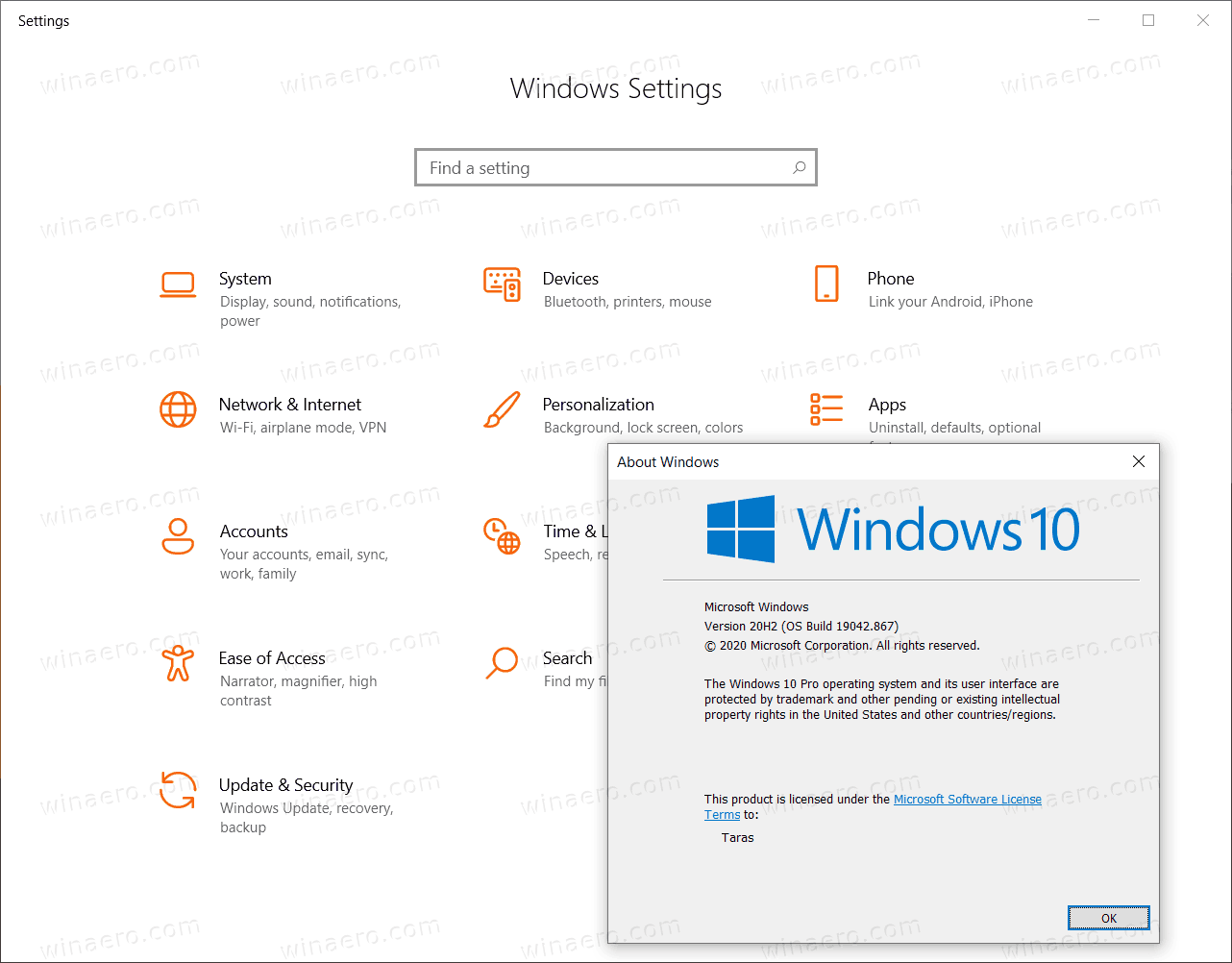 Dev Channel Icons In Stable Build Windows 10