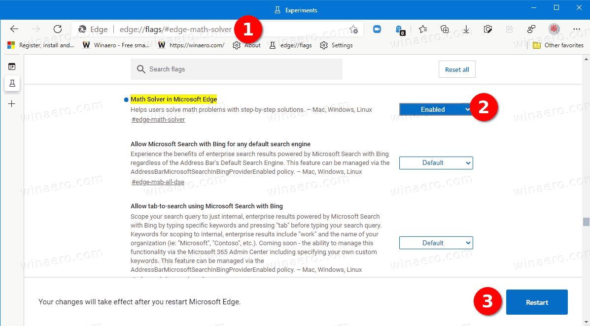 Enable Math Solver In Microsoft Edge