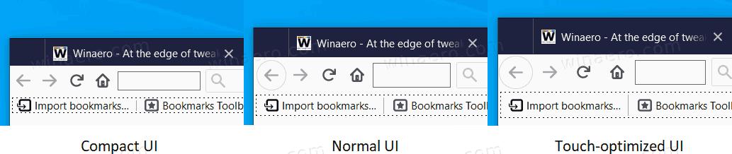 Firefox Compact UI