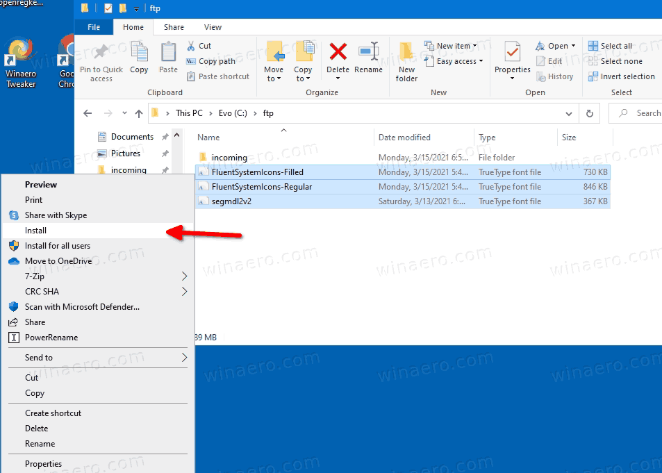 Get Dev Channel System Icons In Stable Windows 10