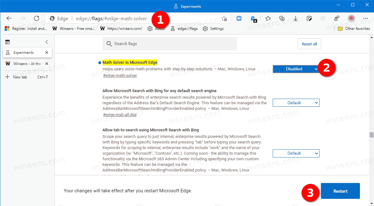 How To Disable Math Solver In Microsoft Edge