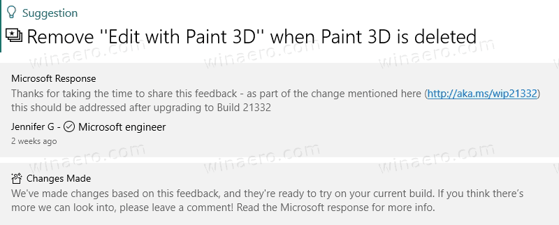 Microsoft Will Remove Edit With Paint 3D Item