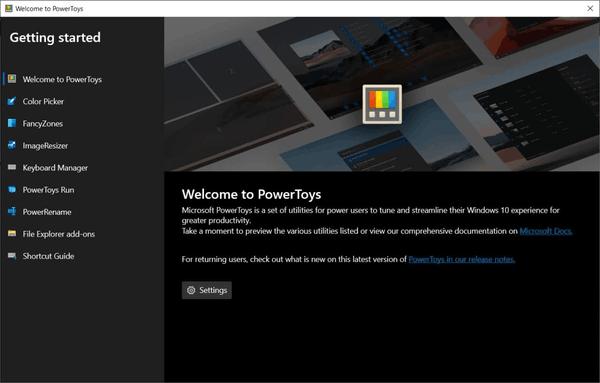 PowerToys Welcome Screen Oobe
