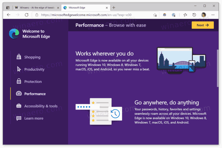 Edge New Welcome Page 1