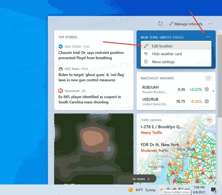 Edit Location Option