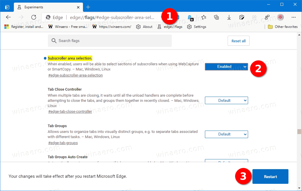 Enable Page Scrolling In Web Capture Tool In Edge