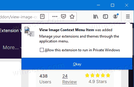 Firefox Extension Added