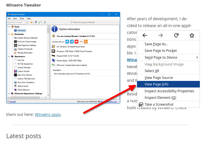 Firefox Removed Context Menus