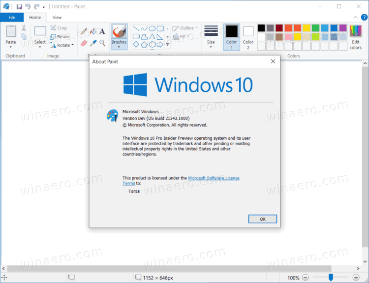 Store Paint Installed In Windows 10