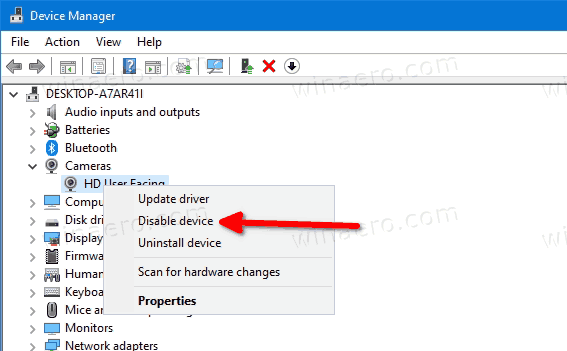 Windows 10 Disable Camera In Device Manager