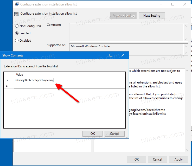 Allow Installation Of Certain Extensions In Chrome