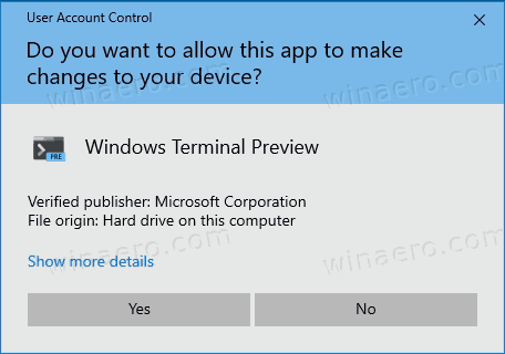 Add Open In Windows Terminal UAC Prompt