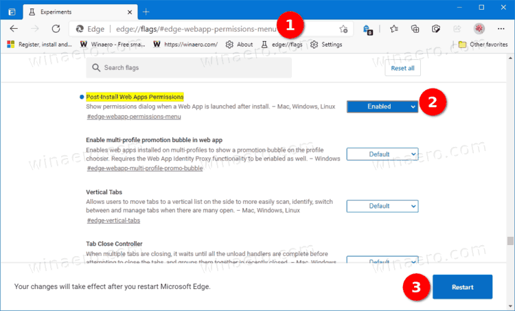 Enable Web App Post Install Dialog In Microsoft Edge 90