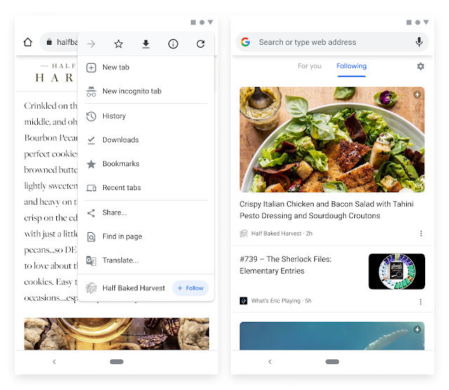RSS Reader In Chrome On Android