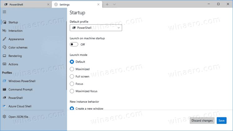 Windows Terminal Settings