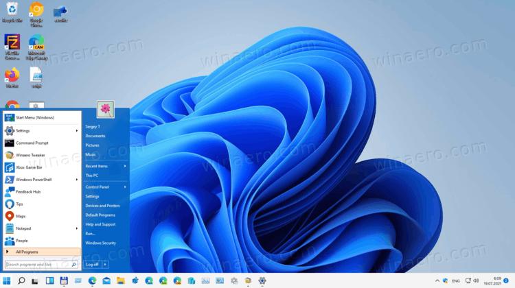 Restore Classic Start Menu In Windows 11