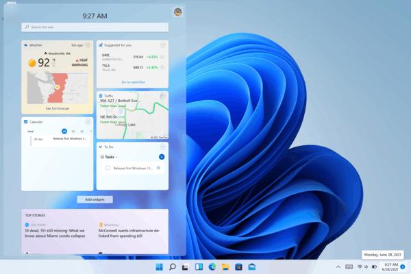 Windows 11 Widgets B22000