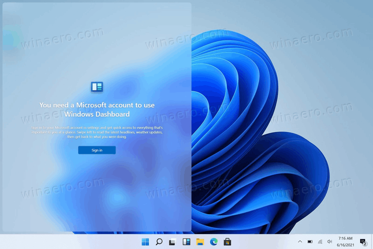 Windows 11 Widgets Require Microsoft Account