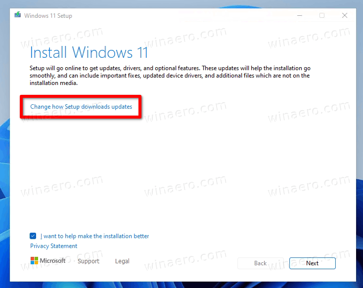 Change How Setup Downloads Updates
