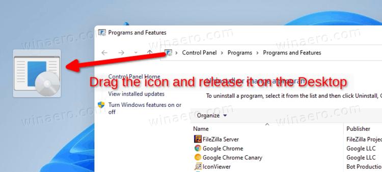 Create A Control Panel Item Shortcut Via Drag N Drop