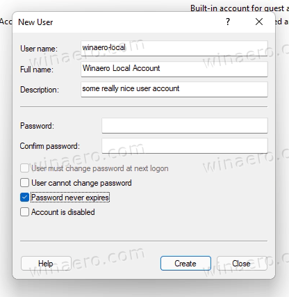 Create A Local Account In Computer Management