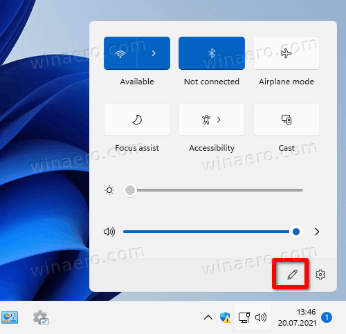 Edit Quick Settings Button