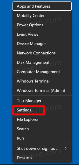 Open Settings In Windows 11