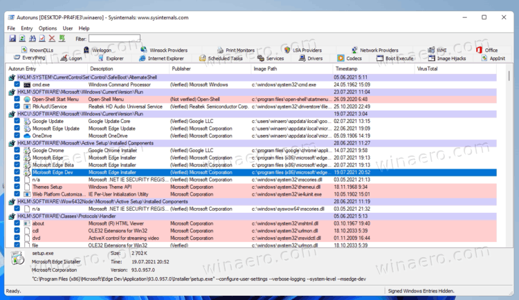 Windows 11 Manage Startup Apps With Autoruns